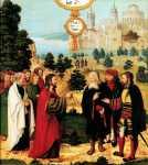Jésus guérit serviteur centenier Polyptique Montbéliard 16è.jpg