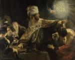 Belshatsar et la main sur le mur Rembrandt.jpg